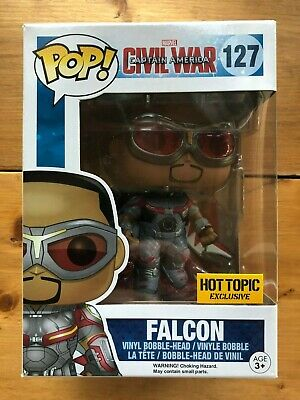 Funko Pop! Marvel FALCON #127 Captain America Civil War Hot Topic Exclusive