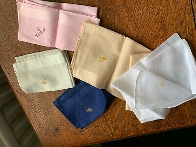ROLEX WATCH NAVY handkerchief NEW BNWT OTHER COLOURS AVAILABLE STOFFELS HANDROLL