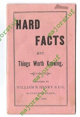 """HARD FACTS and Things Worth Knowing"" ad pamphlet: patent medicines facts wisdom"