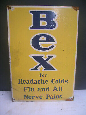 Bex  For Headaches Cold And Flu Metal Sign Freepost Australia