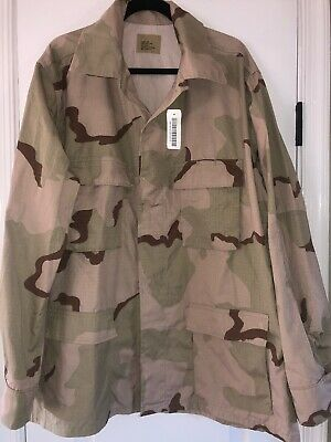 US Military Army Issue Desert Camo Shirt Coat Extra Large Long NEW BDU XL