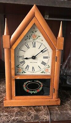 Vintage Seth Thomas Gothic Steeple Mantle Clock - Electric Non Working- U.S.A.