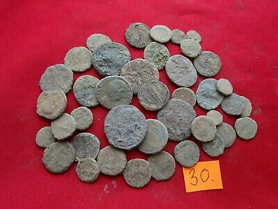 Ancient Roman coins - MIX GRADE COINS FOR CLEANING - 40 pieces . Lot 30.