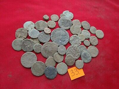 Ancient Roman coins - MIX GRADE COINS FOR CLEANING - 40 pieces . Lot 33.
