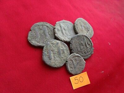 Ancient Byzantine coins - MIX GRADE COINS FOR CLEANING - 6 pieces . Lot 50.