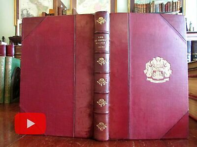Germany Emperor Kaiser Wilhelm 1904 leather book gilt coat of arms Hohenzollern