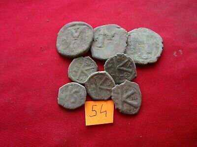 Ancient Byzantine coins - MIX GRADE COINS FOR CLEANING - 8 pieces . Lot 54.