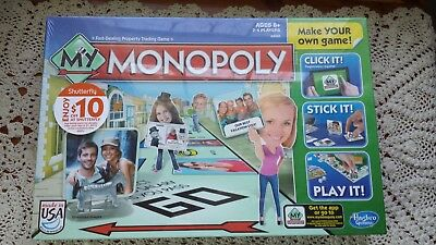 My Monopoly Make Your Own Game Hasbro New in Factory Sealed Box