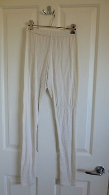 Ladies Size 10 Cream Coloured Thermal Fleece Pants Thermals