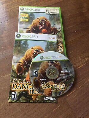 Cabela's Dangerous Hunts 2009 (Microsoft Xbox 360, 2008) COMPLETE, FREE SHIPPING