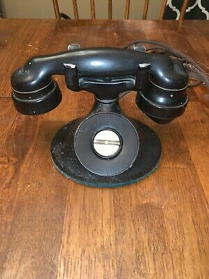 Antique Western Electric D-1 Non Rotary Dial Telephone with E1 Handset