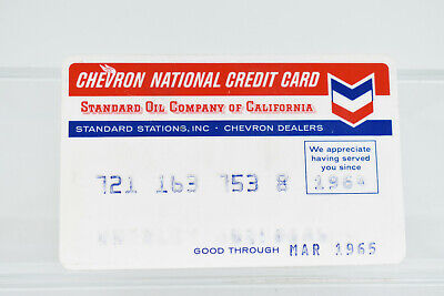 Vintage Chevron Standard Oil of California 1965 Credit Card