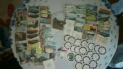 Large Lot Of Vintage Viewmaster Viewers And 150+ Reels