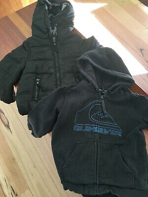 Quiksilver Hoodie And Puffer Jacket Size3