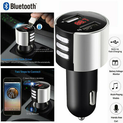 Bluetooth 3.0 Car USB Charger FM Transmitter Wireless Radio Adapter MP3 Player