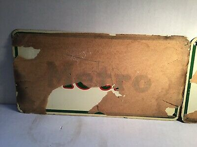 Vintage Mobil Metro Socony Sign Can Oil Metal gas rare tin handy Shell Sinclair