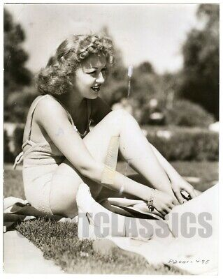 Betty Grable In Swimsuit Campus Confessions 1938 Vintage Original Photograph