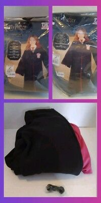 Harry Potter Gryffindor House Hooded Robe Costume Cape Halloween Youth LARGE