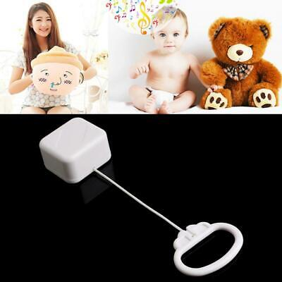 Pull String Cord Music Box White Baby Bed Bell Kids Toy Random Songs New