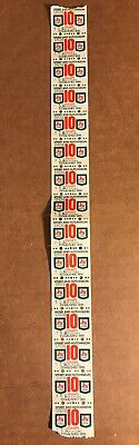 Vintage S & H Green Stamps, Row Of 15 Stamps, 16 2/3 Mills Each, CHC56-158