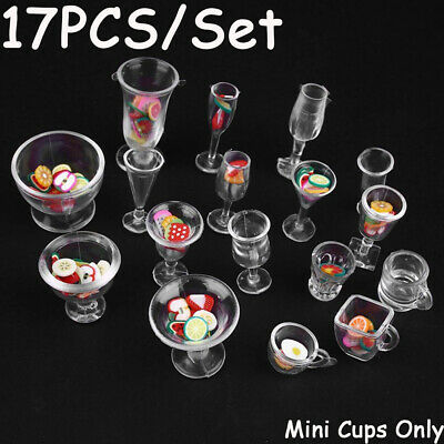 Figurines Ice Cream cup Miniatures Tableware Kitchenware Goblets Model