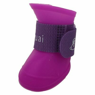 Purple S, Pet Shoes Booties Rubber Dog Waterproof Rain Boots K1M6 JB