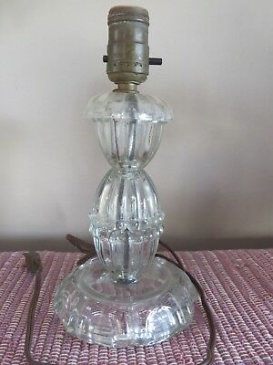 """Antique Crystal Glass Vanity Lamp 9-3/4"""" Tall, No Shade, Works great"""