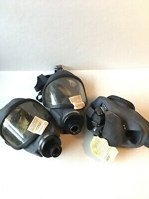 Lot 3 New Old Stock MSA Gas Mask Never Used Storage Auction Find Prepper