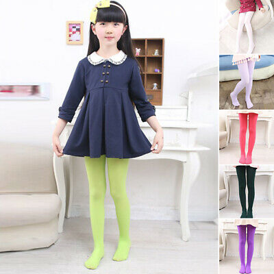 Pantyhose Hosiery Stockings Tights Fancy Solid Girls Ballet Opaque Fashion