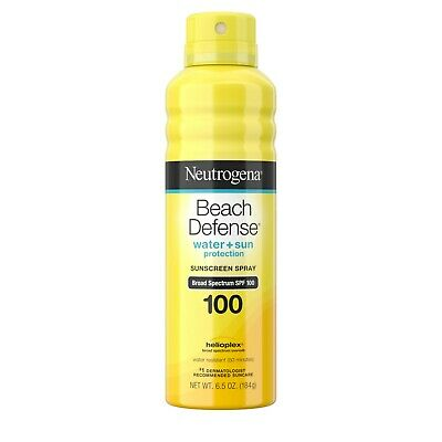 New Neutrogena Beach Defense Oil-free Body Sunscreen Spray SPF 100 6.5 Oz.