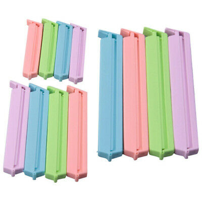 12x Kitchen Plastic Storage Food Snack Seal Sealing Bag Clips Sealer Clamp  Y7I4