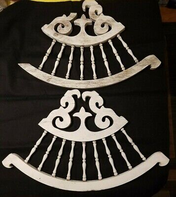 Antique Victorian Wood Trim, Gingerbread, Architectural Salvage, 3 fan pieces
