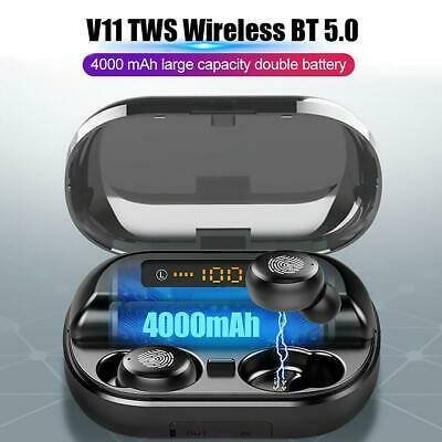 V11 TWS Wireless BT5.0 Earphone Mini In-Ear Sport Earbuds IPX7 Headset Headphone