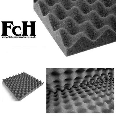 Sound Acoustic Egg Box Foam Tiles - Pack of 4 - 500mm x 500mm x 30mm