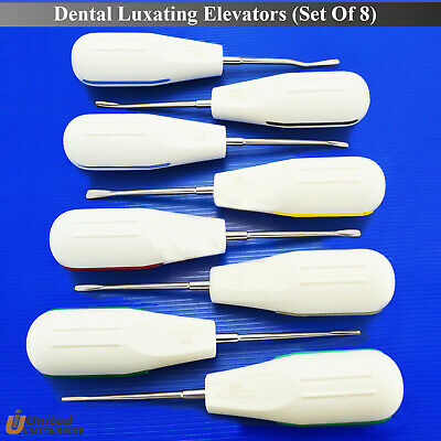 Medentra Tooth Root Extraction Elevators 8x Dental Surgical Luxation Instruments