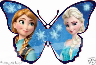 24 x Disney FROZEN Butterflies Edible Decorations Cup Cake Toppers