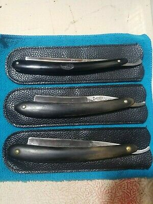 *Vintage Straight Razors: WADE & BUTCHER, BOKER RED INJUN, J. RODGERS *3 Razors*