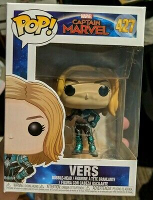 Funko Pop! Captain Marvel In Vers Suit Unmasked Marvel Avengers Brand New 427