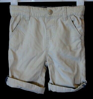 Boys Primark Light Grey Adjustable Waist Smart Chino Denim Shorts Age 2-3 Years