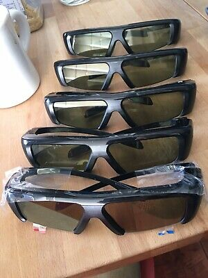 Samsung SSG-3100GB Active 3D Glasses Family set of 5. One brand new set included