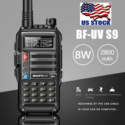 BaoFeng UV-S9 Powerful 8W Dual Band Walkie Talkie Long Range Two Way Radio Black