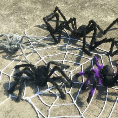 200cm Plush Giant Spider Decoration Halloween Haunted House Garden Props New