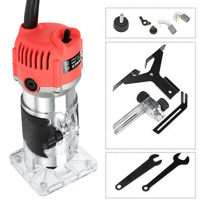 800W Electric Trimmer Router Wood Carving Engraving Machine W/ Transparent Base