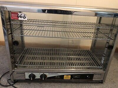 Hot Food Display Warmer 100 Pie, Curved Top Square Front Glass, Roband PW100