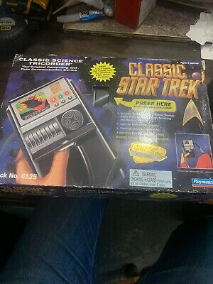 1995 Ban Dai Playmates Star Trek Classic Science Tricorder - Working - Boxed