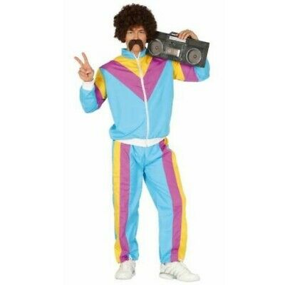 Mens Shell Suit Trackie Tracksuit Scouser 1980's 70's 80's Leisure Fancy Dress
