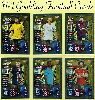 Champions League MATCH ATTAX 2019/2020 ☆ LIMITED EDITION ☆ Football Cards [UK]