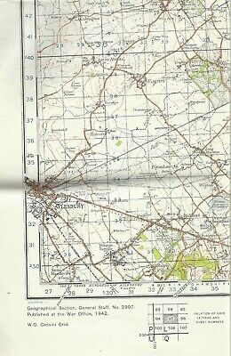 Ordnance Survey 5th edition style WWII revision 1940 sheet 95 Luton