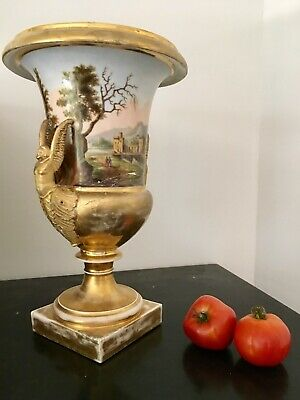 Rare Grand Vase Medicis Porcelaine De paris Collection Empire Period Early xIx
