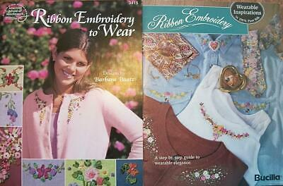 LOT-ASN Ribbon Embroidery to Wear+Bucilla Wearable Inspirations-Several Designs